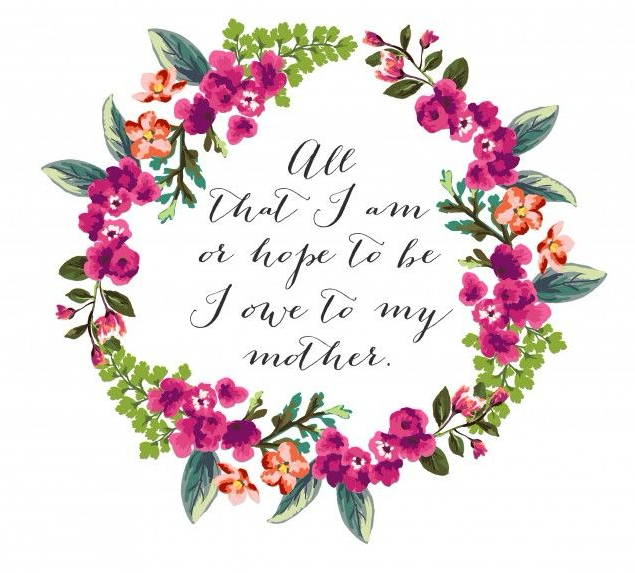 Floral Mother's Day Quote