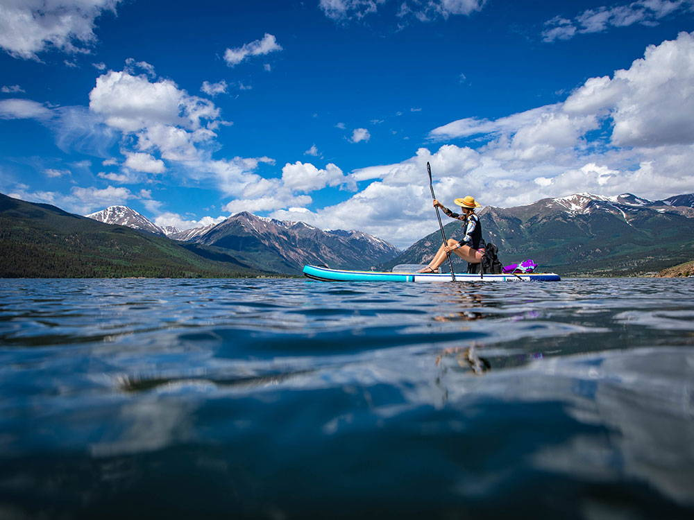 paddling on the calypso board in the rockies
