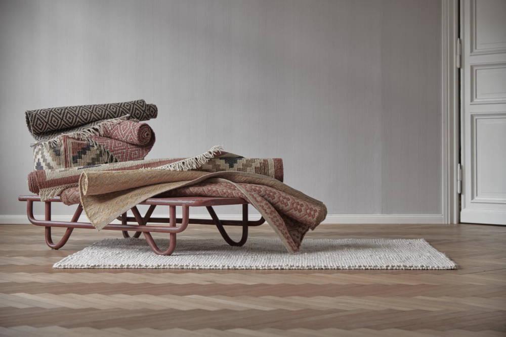 Handgewebte Teppiche aus Jute, Wolle und Baumwolle