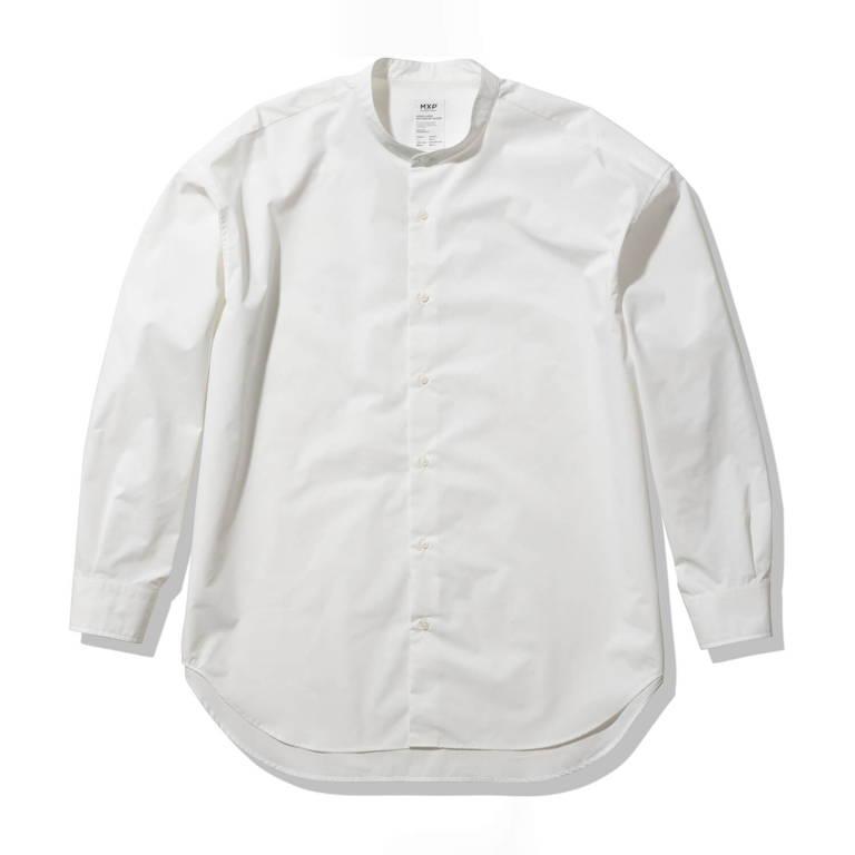 MXP(エムエックスピー)/ロングスリーブ スマートブロードボックスシャツ/ホワイト/UNISEX