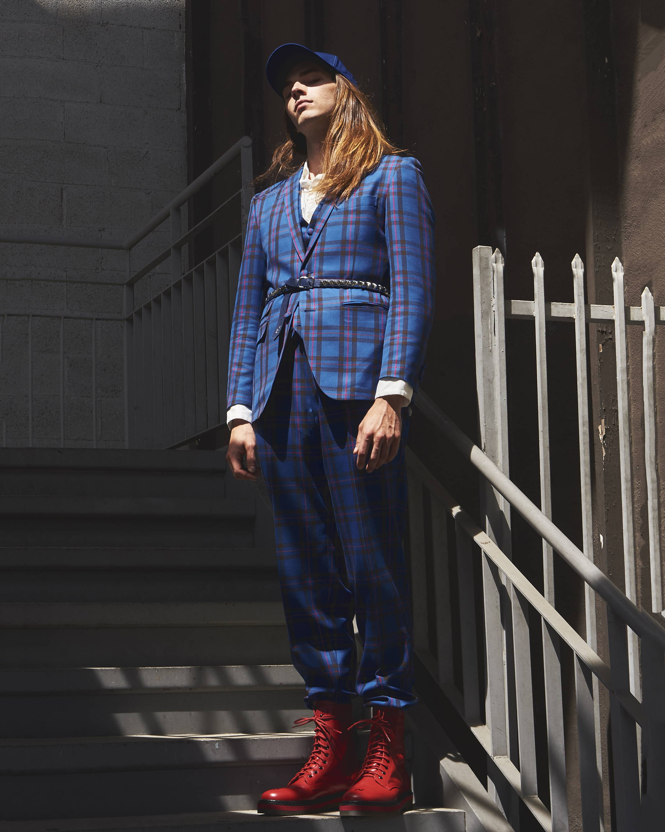Kidill Plaid Suit SS18 - Hlorenzo