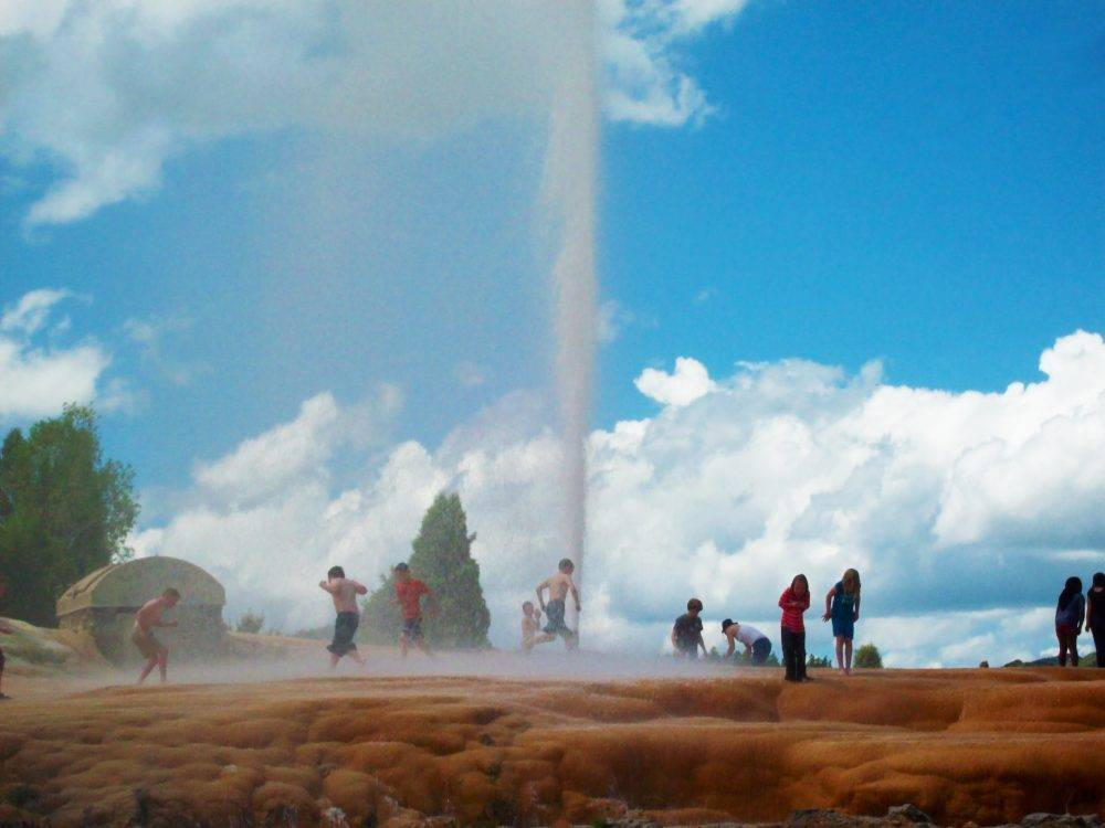 Soda Springs Geyser on the Pioneer Historic Byway