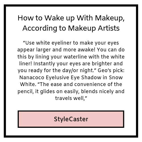 how to wakeup with makeup according to makeup artists- stylecaster