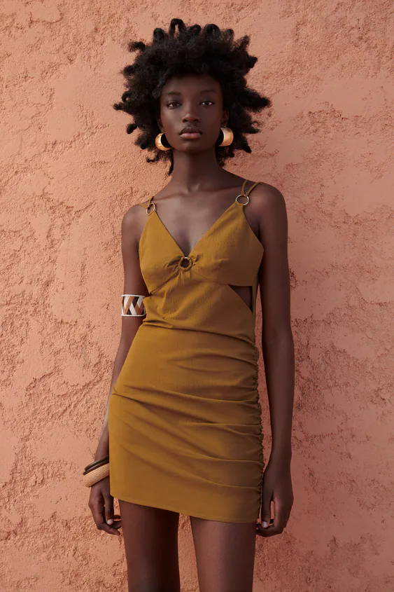 Neutral dress for high end looks