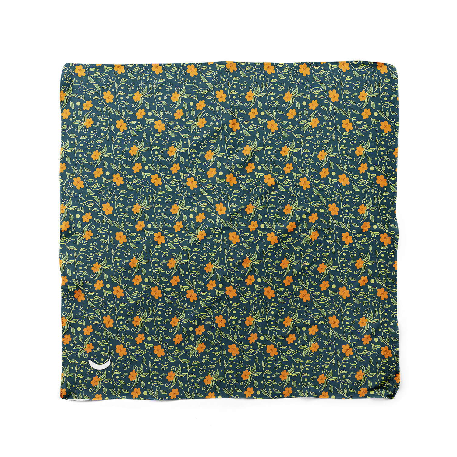 Banana Bandanas Secret Garden dog bandana green orange flower dog bandana