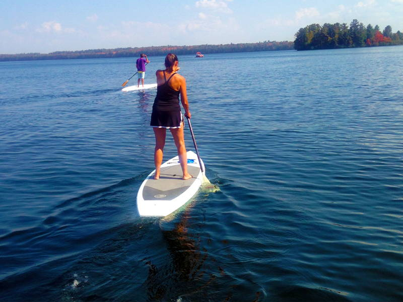 paddle board rental at camp holiday