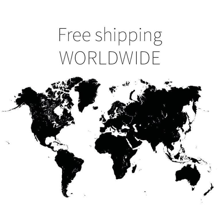 Free shipping world map