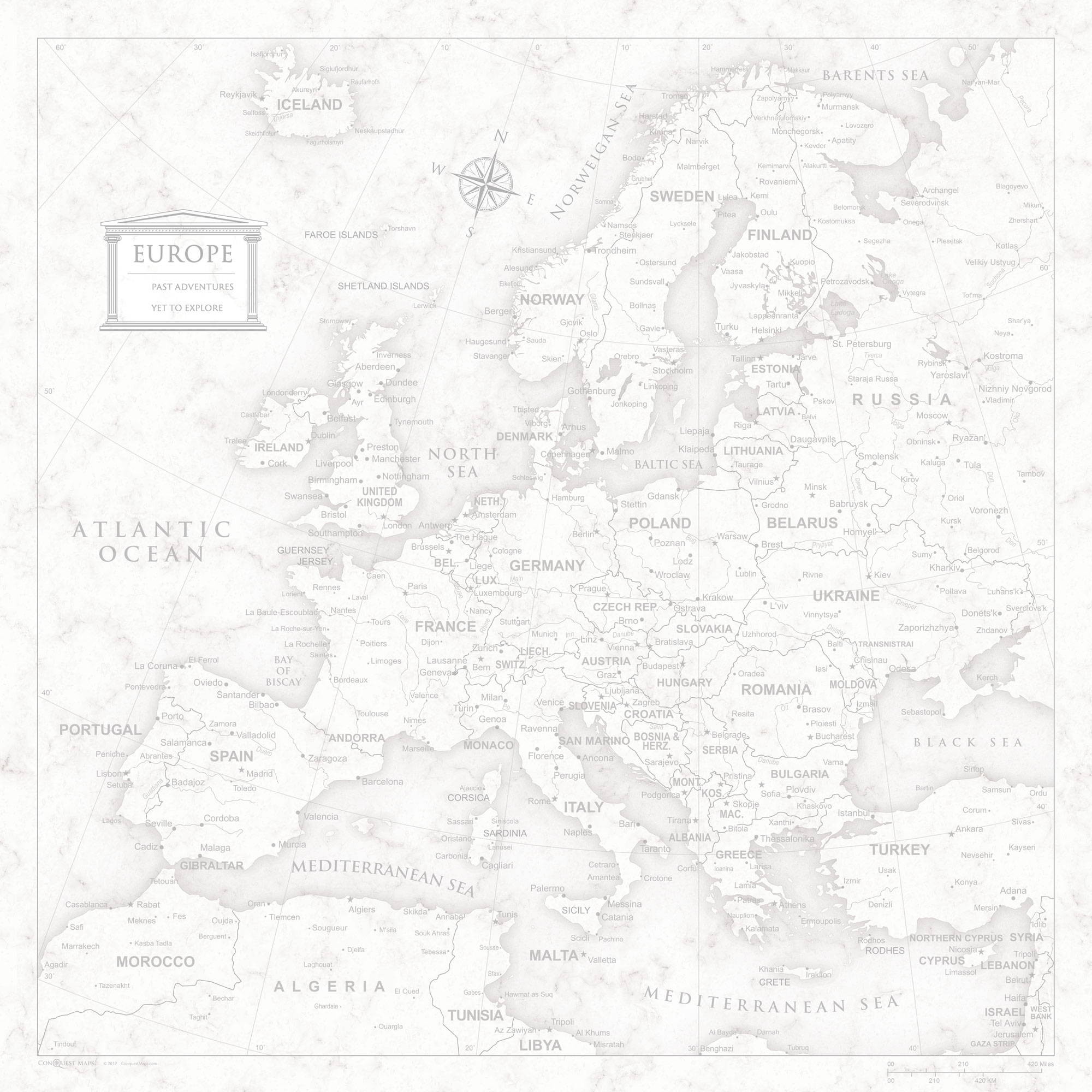 conquest maps classic marble europe