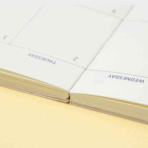 Opens flat - 2020 Flowery dated weekly journal planner