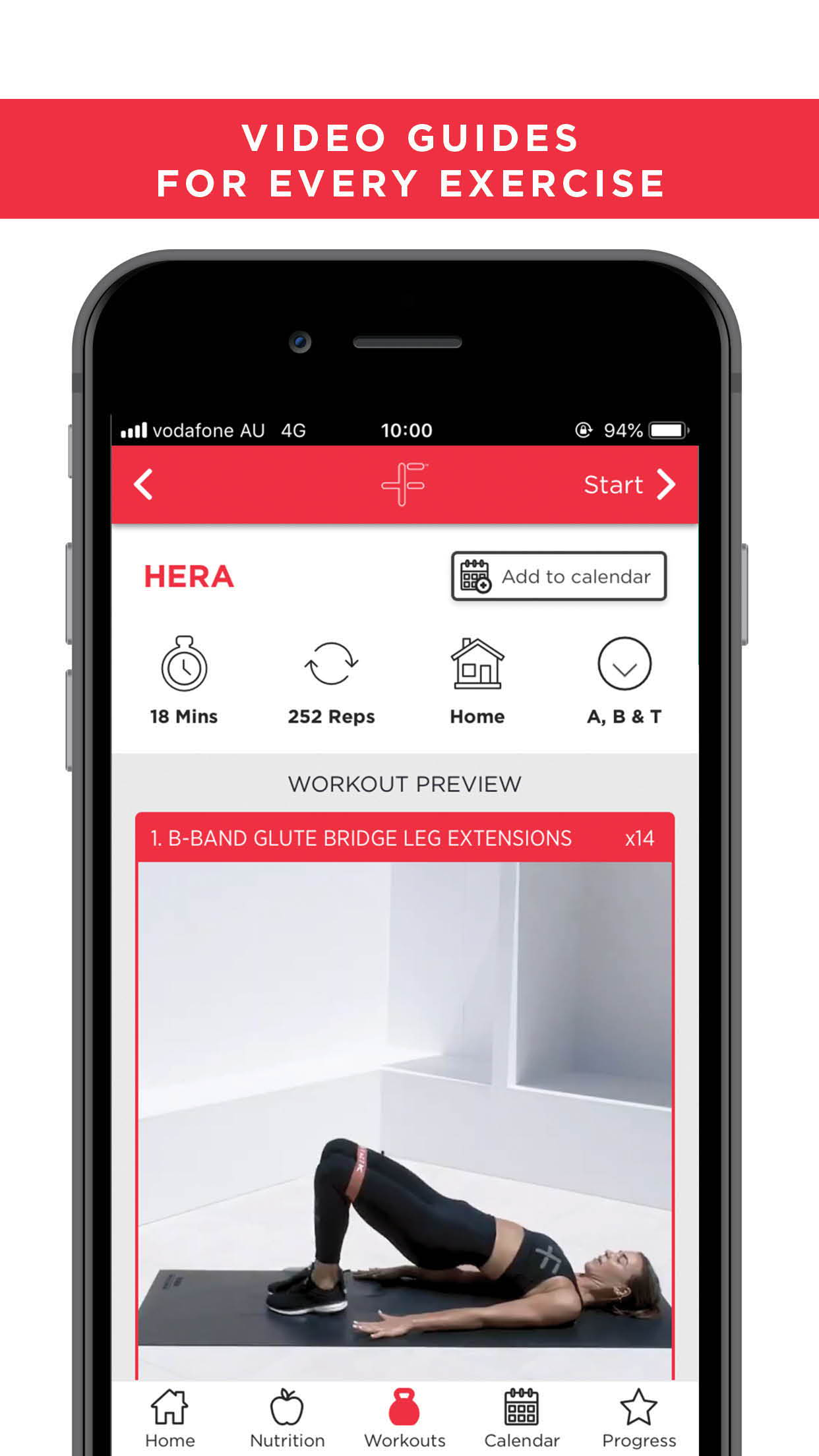 FitazFK App store preview - Workouts