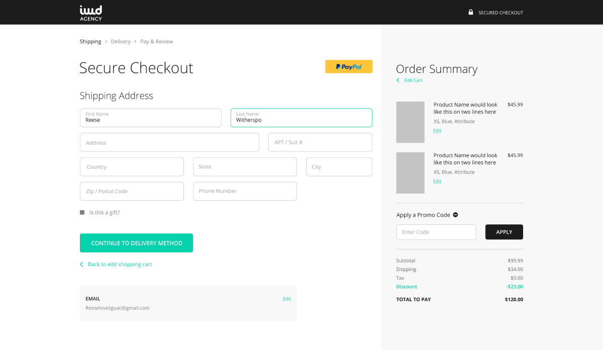 IWD Checkout Suite for Magento, Shopify, BigCommerce, WooCommerce