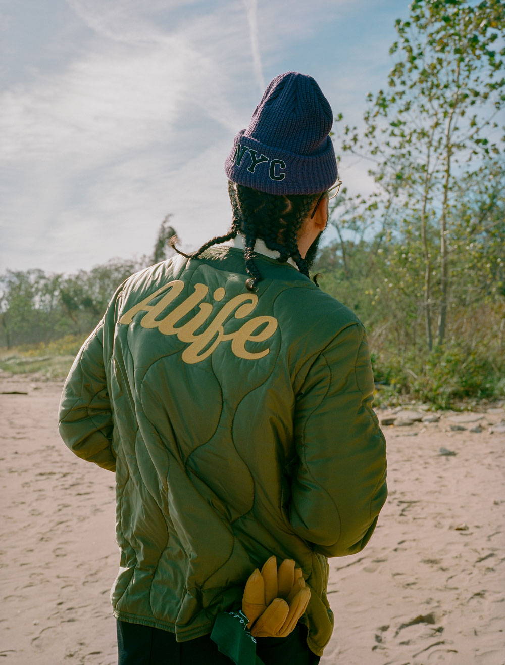 Alife FW2020 Back of Military Layer in Green