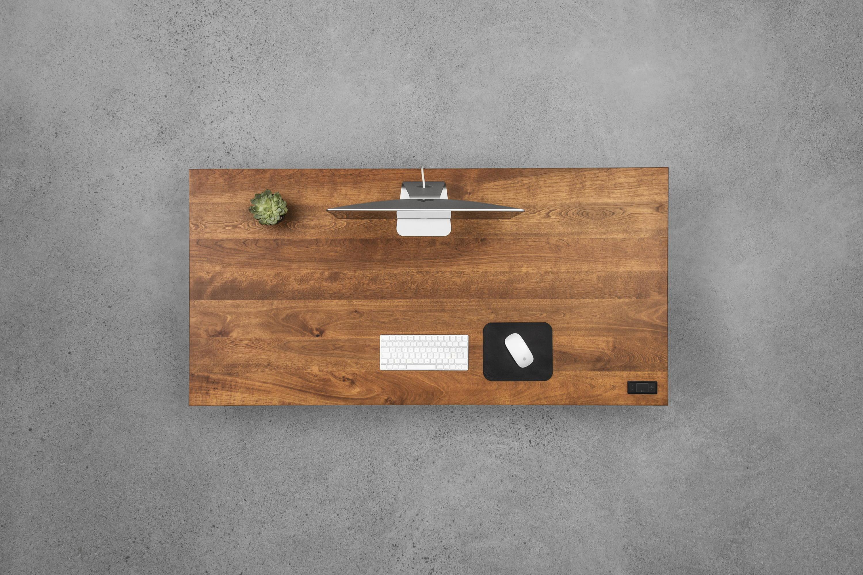 Sway sit-stand desk - cherrywood - ergonofis