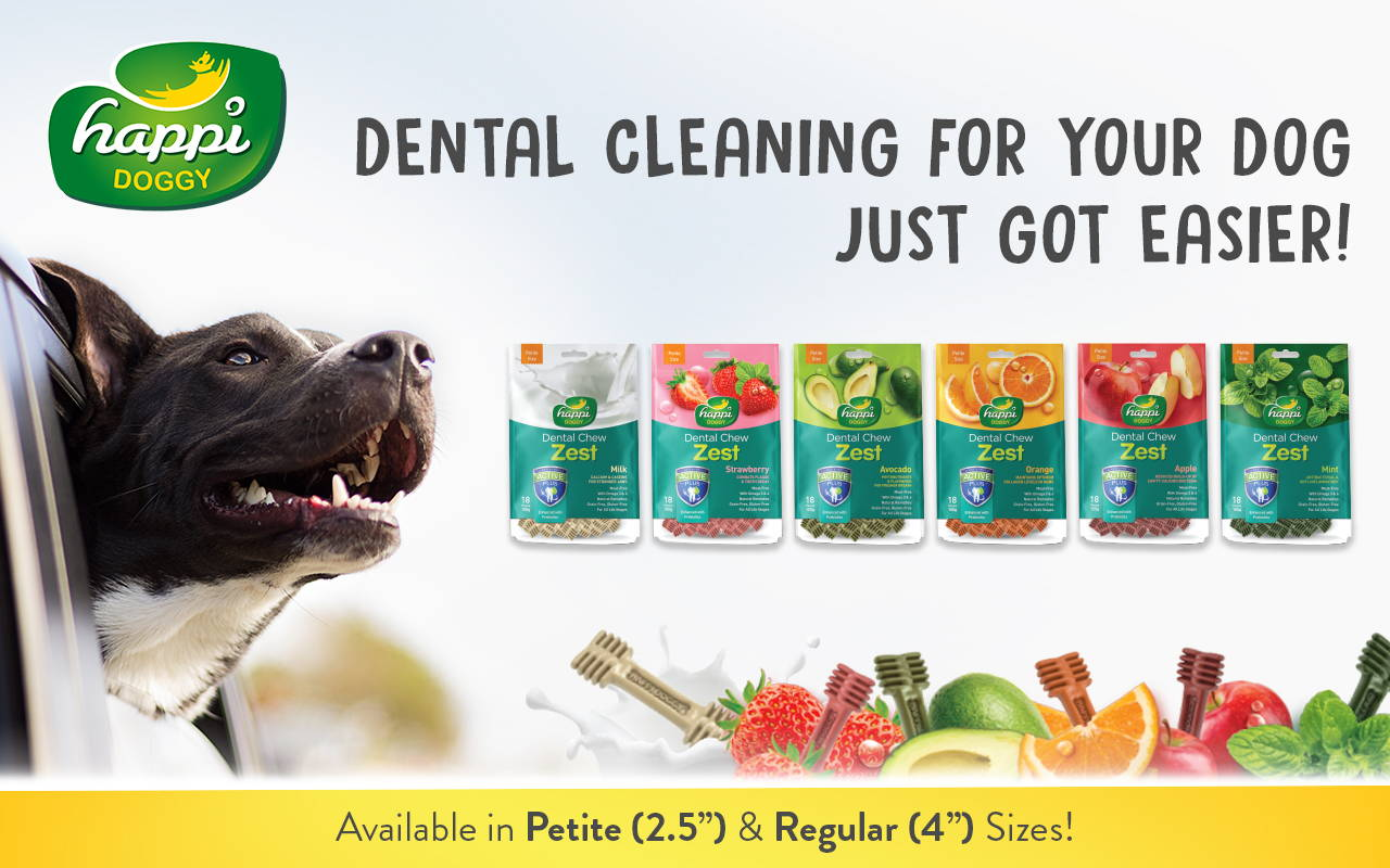 happi doggy dental chew collection banner