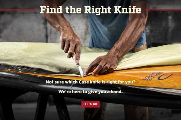 Find The Right Knife Tool - Not Sure which Case knife is right for you? We're here to give you a hand.