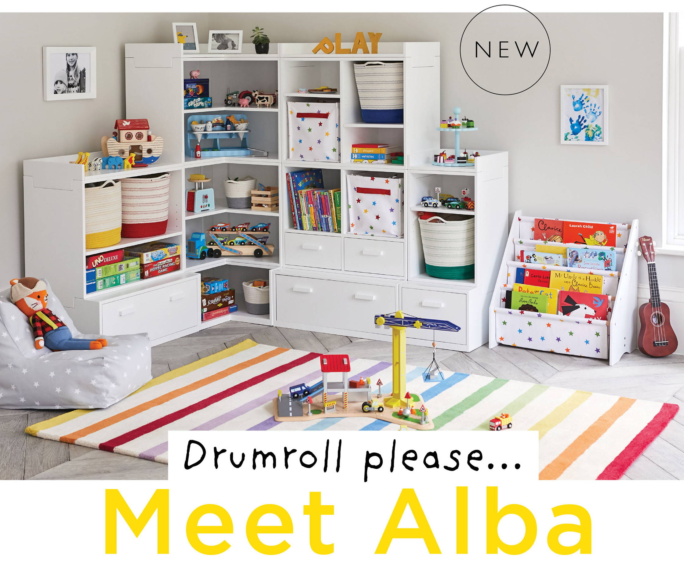 Alba playroom storage