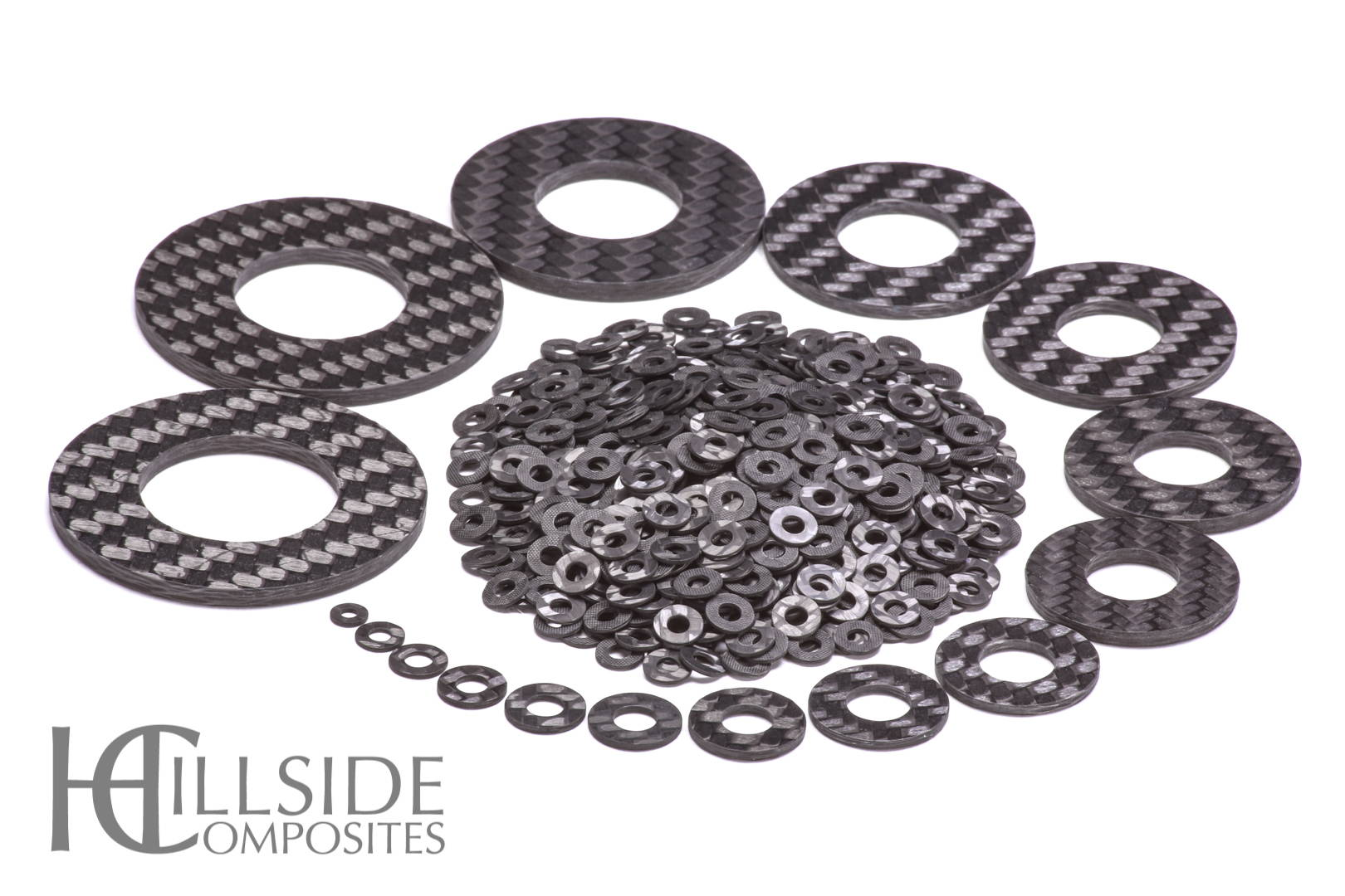 Assorted Carbon Fiber Washers