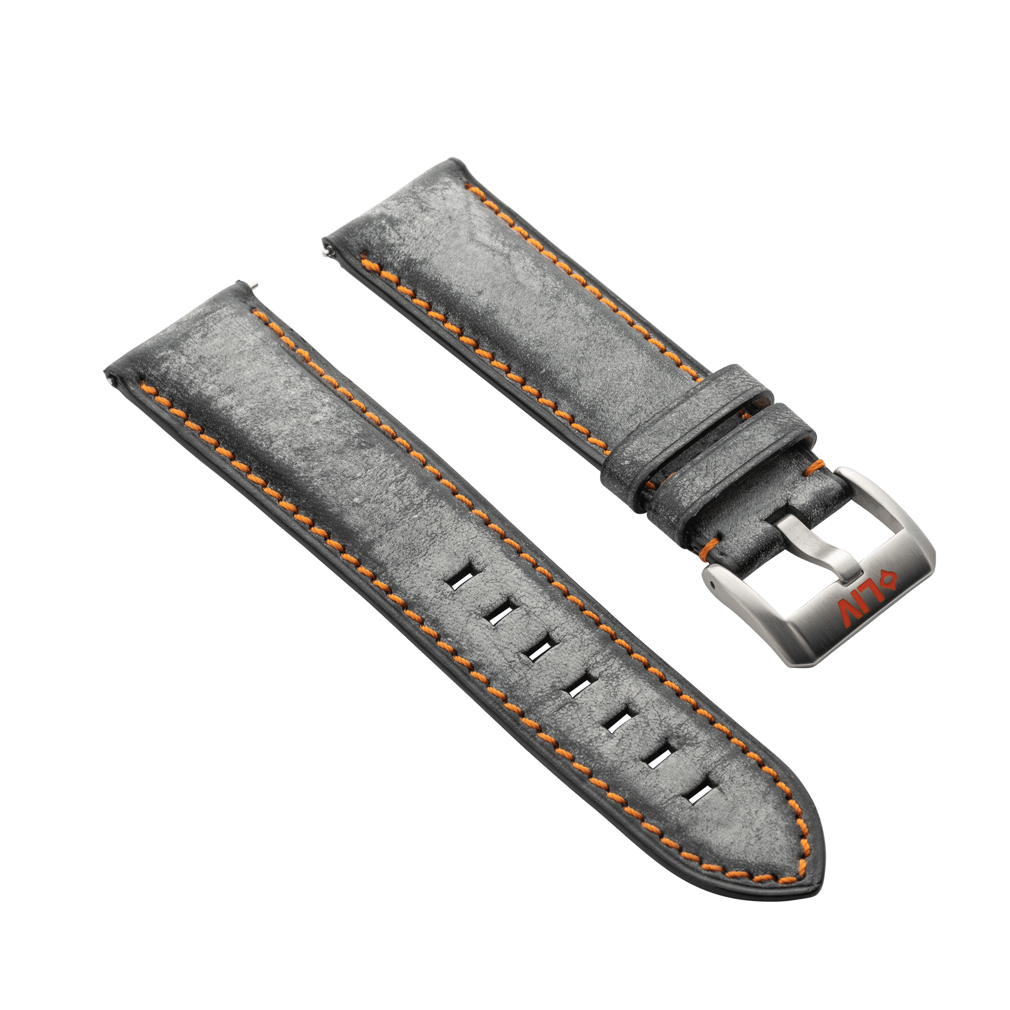 Italian Waxed Leather Watch Strap
