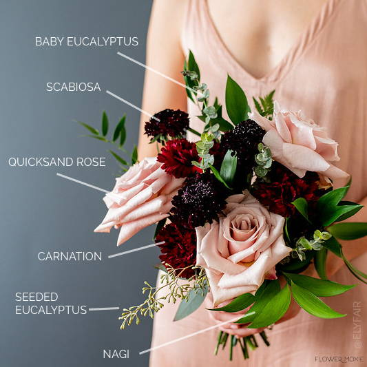 bridesmaid bouquet stem count breakdown