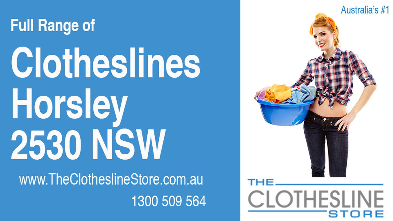 New Clotheslines in Horsley 2530 NSW