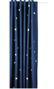 Navy stardust blackout curtains
