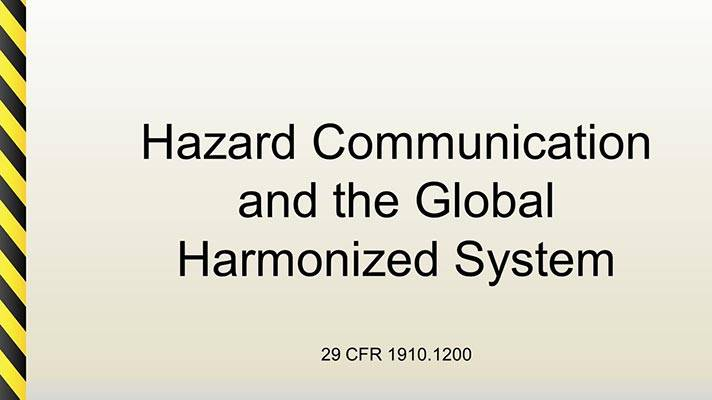 Hazard Communication PowerPoint Slide Cover