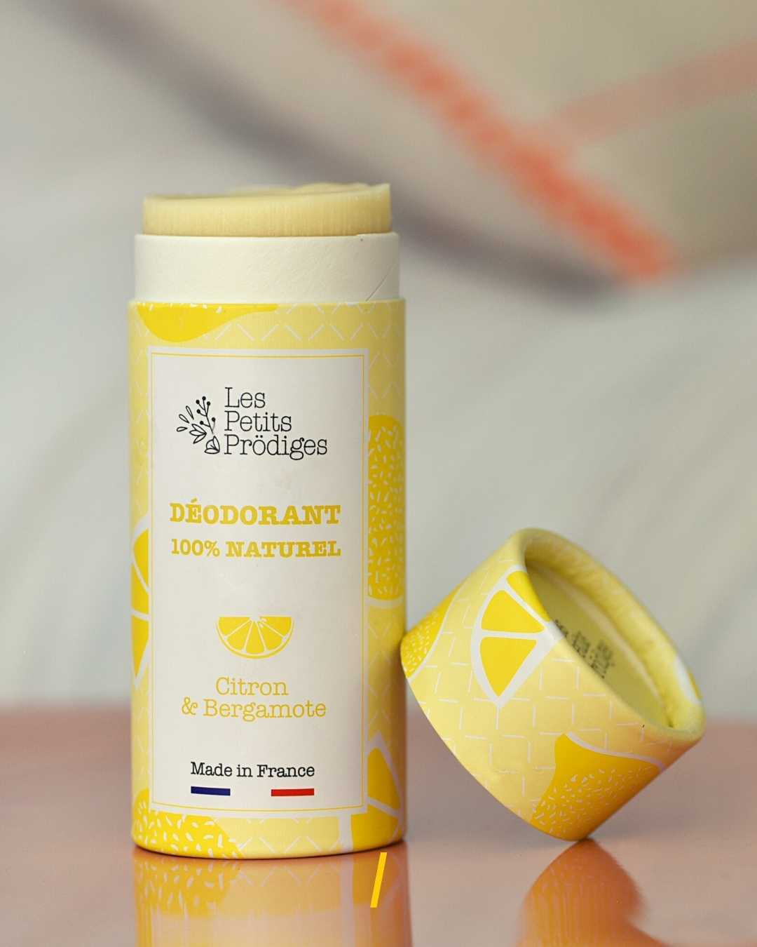 Deodorant naturel solide - Citron - Les petits prodiges