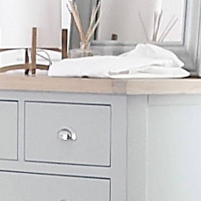 Grey Painted & Oak Bedroom