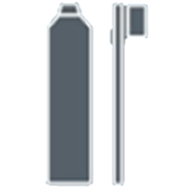 Personal supplies icon - a toothbrush and toothpaste