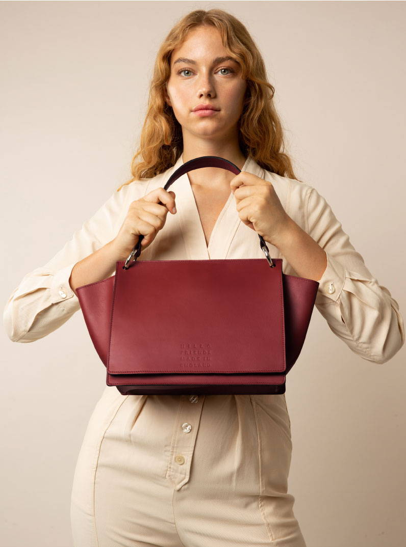 Hill and Friends Cecily Shoulder Bag in Oxblood