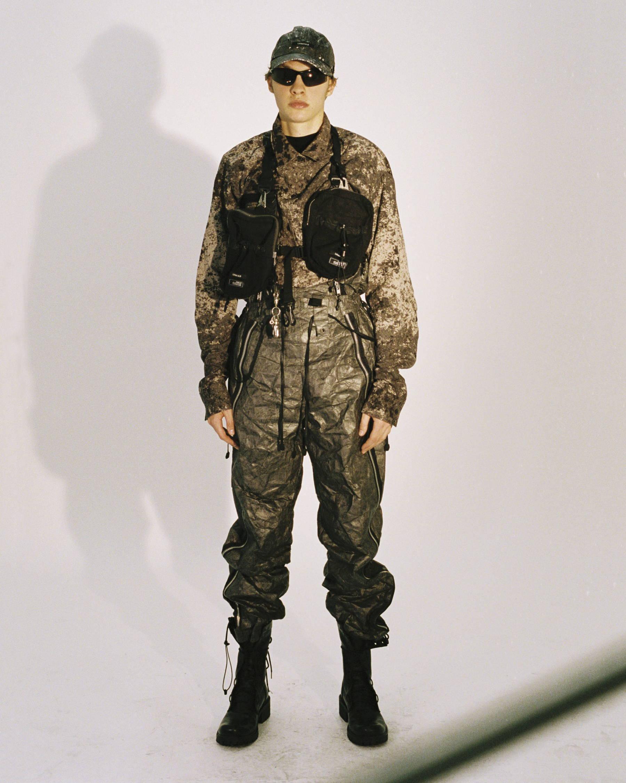 Blackmerle FW18 Hooded Camouflage Shirt Swiss Crossbag - Hlorenzo
