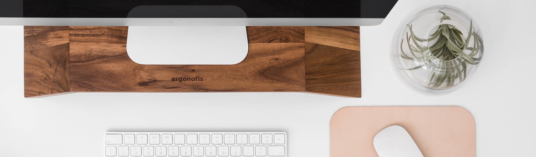 Wooden monitor stand - ergonofis