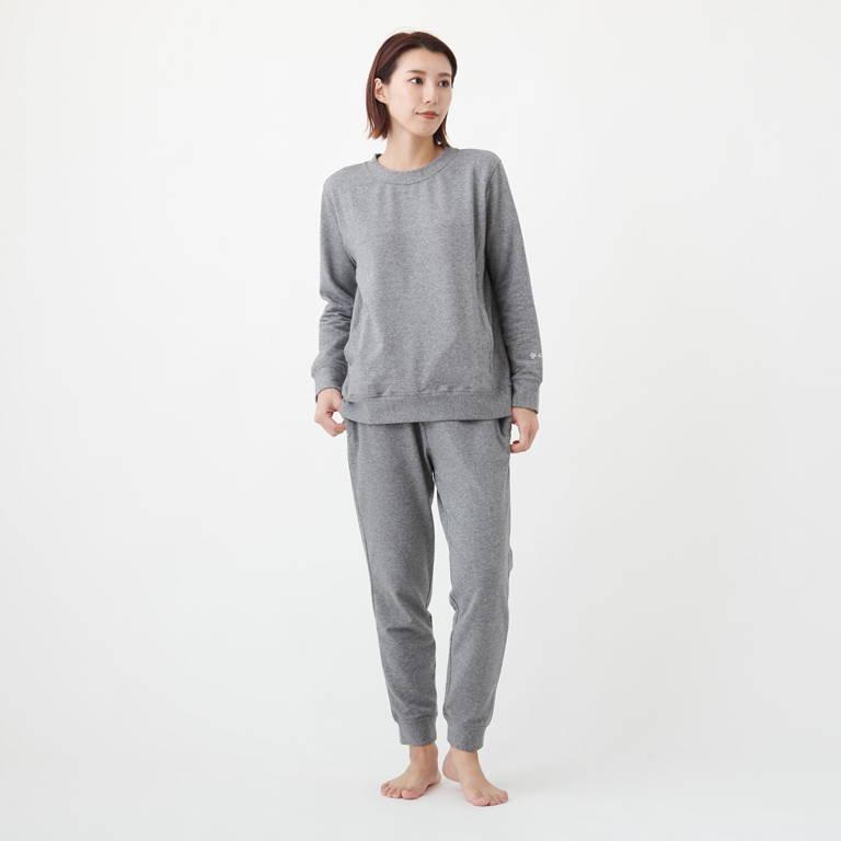 C3fit(シースリーフィット)/リポーズ スウェットシャツ/グレー/WOMENS