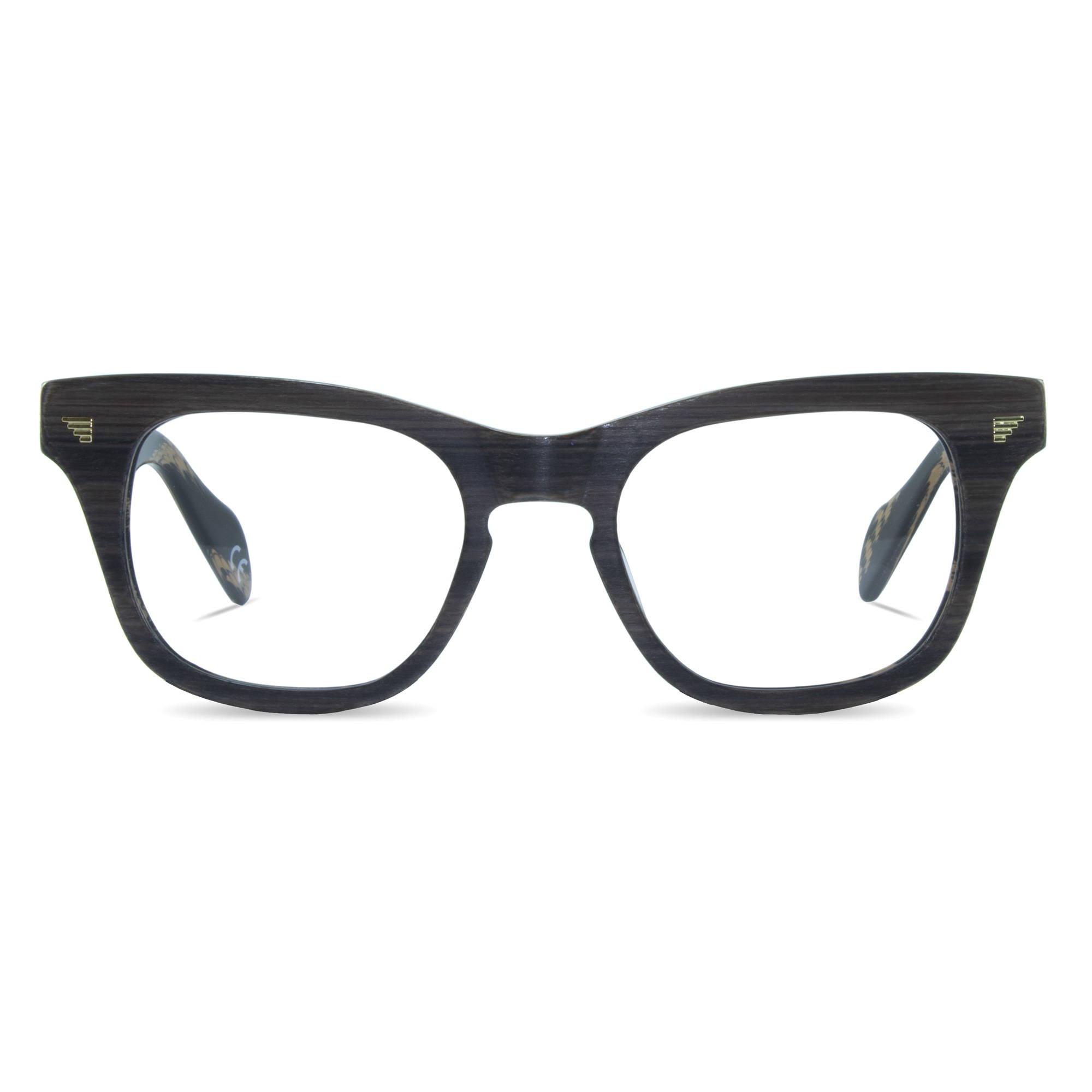 Joiuss russ dark wood glasses