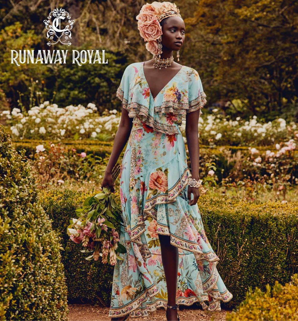 CAMILLA spring dresses, CAMILLA floral dress, CAMILLA blue floral dress.