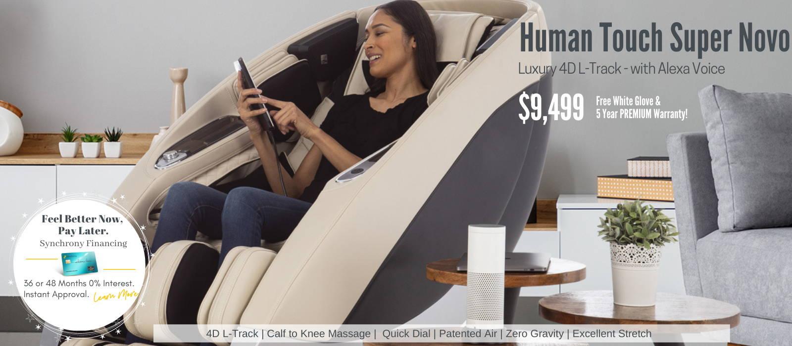 Human Touch Super Novo 4D L-Track Massage Chair 2020