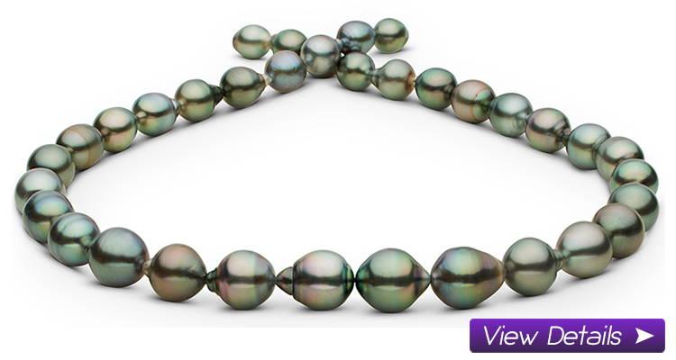 Drop and Baroque Pearl Necklaces