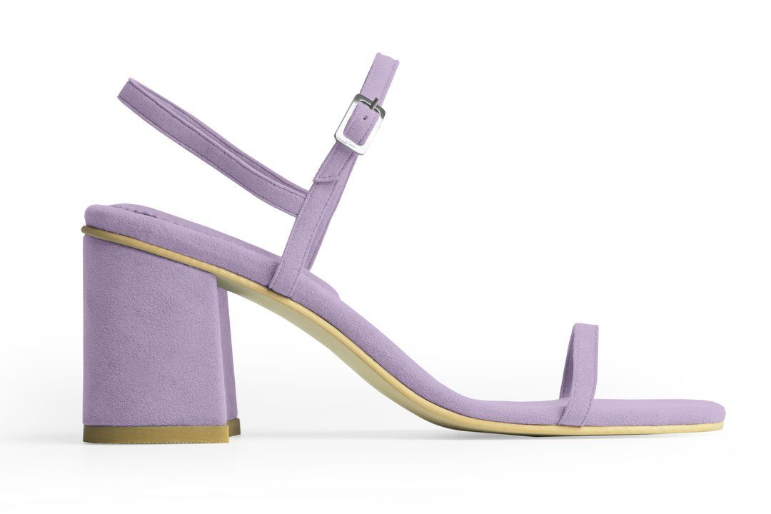 Heliotrope Vegan Suede Simple Sandal - RAFA | Ecoture