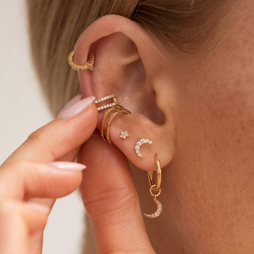 ear stack with ear cuffs