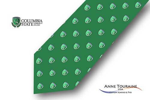 Repeated-logo-custom-ties-bow-ties-design-style-green