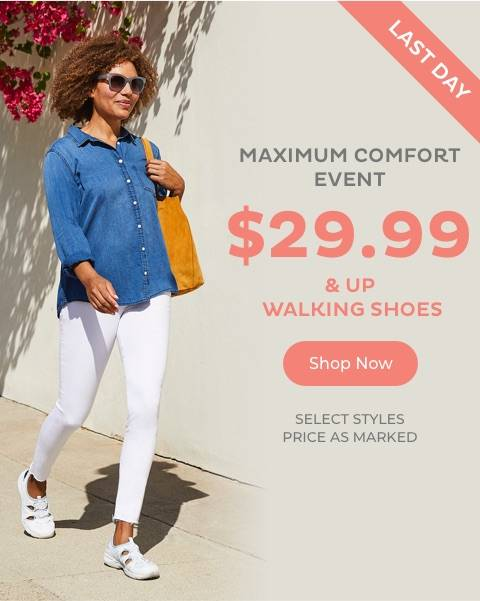 $29.99 & Up Walking Shoes
