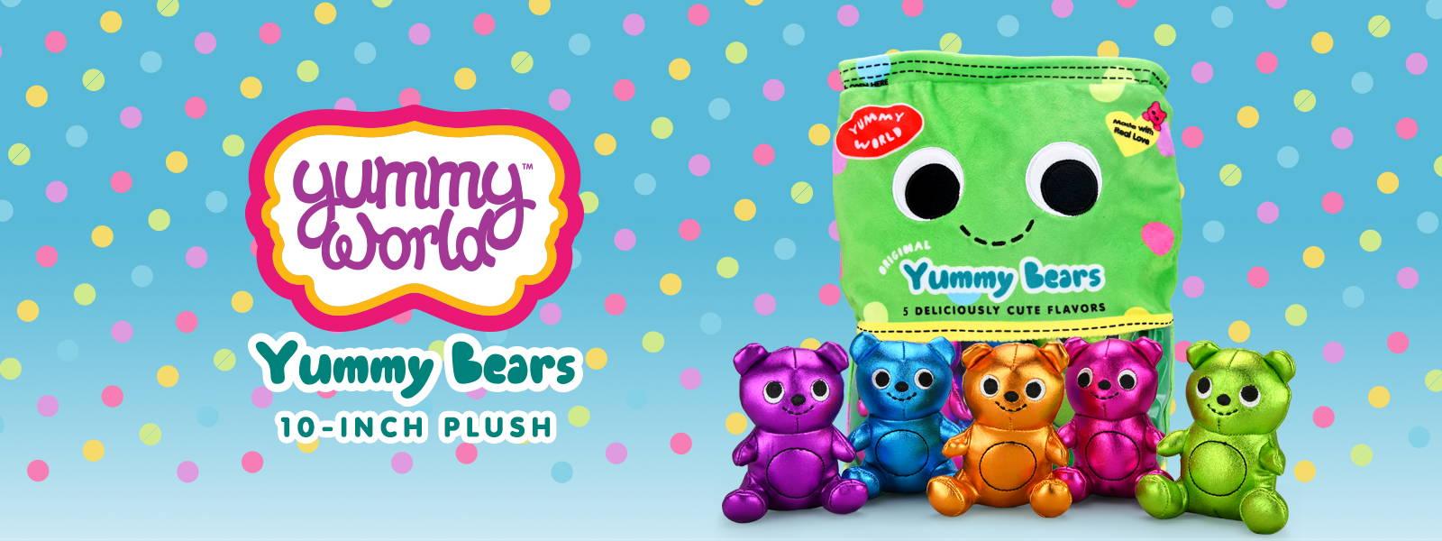 Yummy World Yummy Bears Interactive Plush Toy by Kidrobot