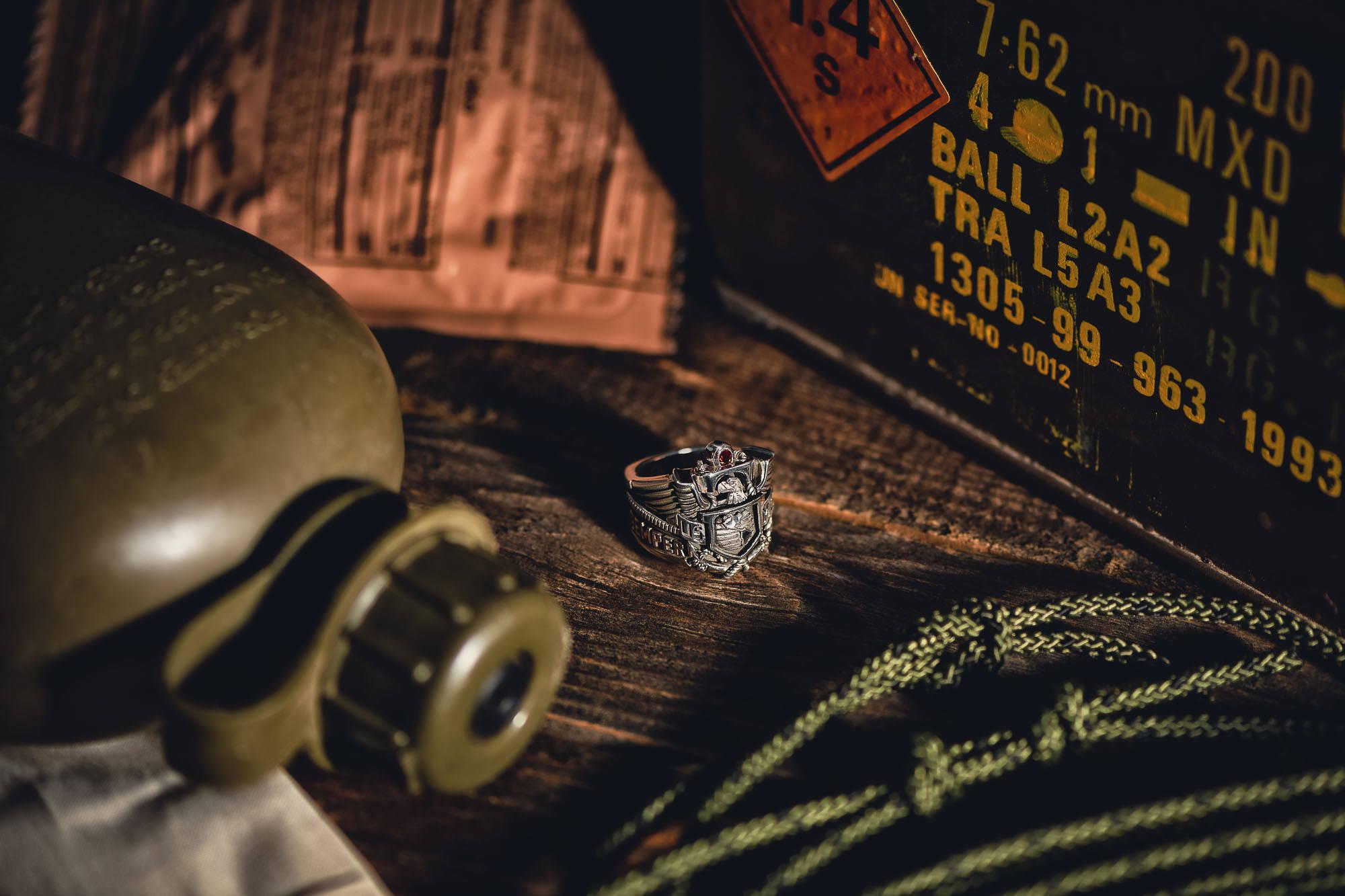 The NightRider Jewelry USMC Marine Corps Ring