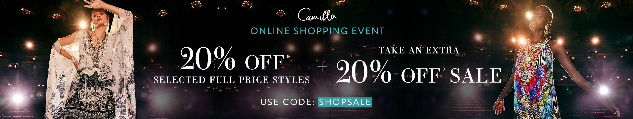 20% off Selected Styles, use code: SHOPSALE