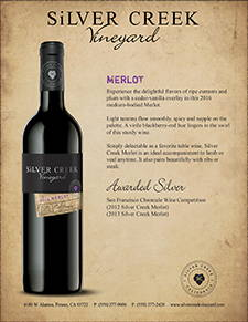 Silver Creek Merlot Sell Sheet