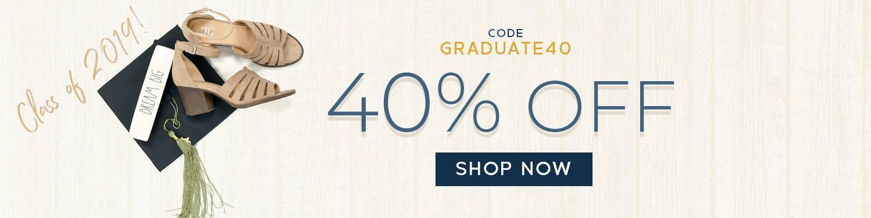 Graduation sale 40% off!