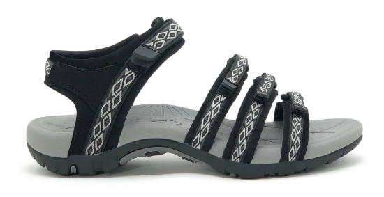 Comfortable athletic hiking sandal for women with arch support