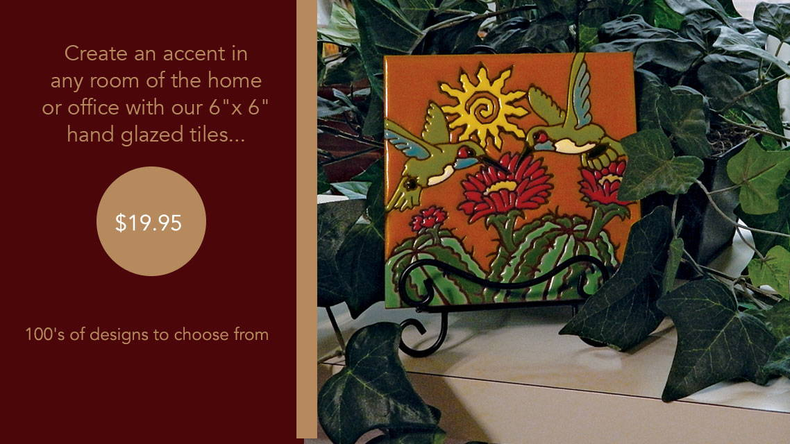 Hand Painted Tiles - Accent Any Room In Your House - Starting at $19.95