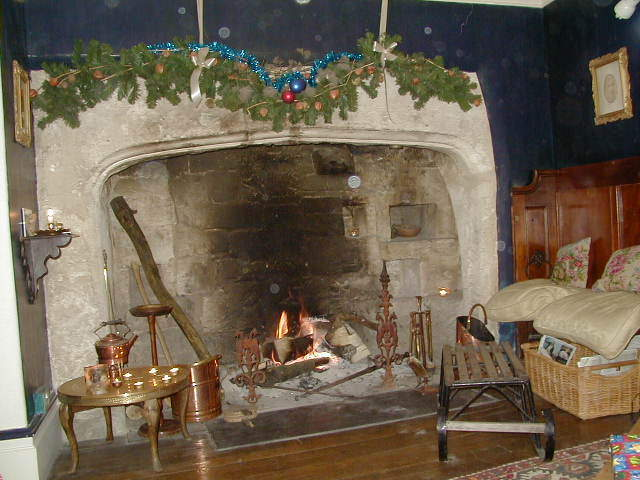 large open fireplace