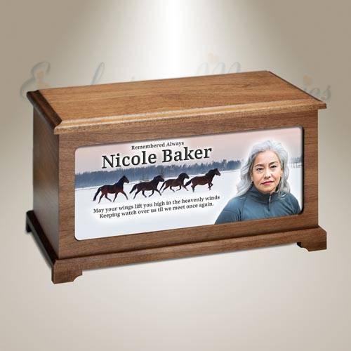 Wild Horses Photo Memorial Urn